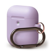 EL_A2WCSSCHW_LV [elago AIRPODS HANG CASE for AirPods 2nd Generation Wireless Charging Case for AirPods 2nd Wireless (Lavender)]