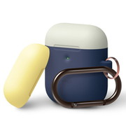 EL_A2WCSSCOW_J1 [elago AIRPODS DUO HANG CASE for AirPods 2nd Generation Wireless Charging Case for AirPods 2nd Wireless (Jean Indigo 1)]