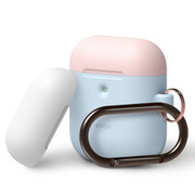 EL_A2WCSSCOW_PB [elago AIRPODS DUO HANG CASE for AirPods 2nd Generation Wireless Charging Case for AirPods 2nd Wireless (Pastel Blue)]