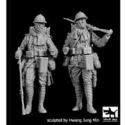 HAUF35202 フランス軍 歩兵 WW.I セット HAUF35200+35201 [1/35スケール レジン製ミリタリーフィギュア]