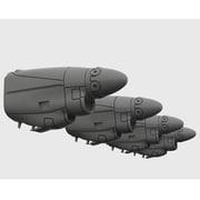 HAUBRL72170 C-130J エンジンセット [1/72スケール レジン製パーツ]