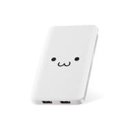 DE-M09-5000WF [モバイルバッテリー/リチウムイオン電池/薄型/5000mAh/2.1A/PSE適合/ホワイトフェイス]