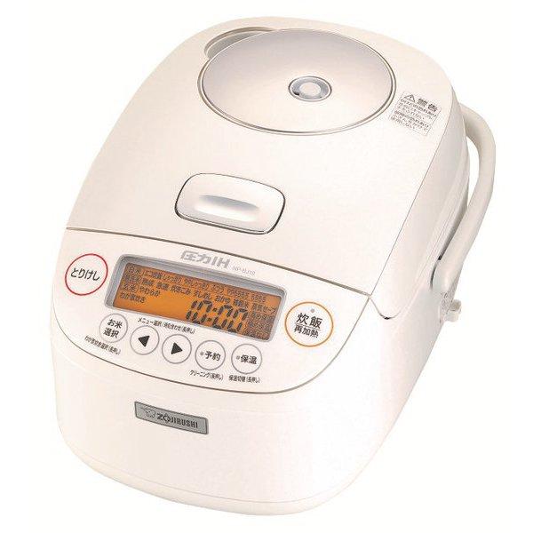 NP-BJ10-WA [圧力IH炊飯ジャー 極め炊き 鉄器コートプラチナ厚釜 5.5合炊き ホワイト]