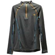 CAMISETA MODE 1/2 ZIP LS ISG M 1206737 WHALES GREY MELANGE XLサイズ [アウトドア カットソー メンズ]