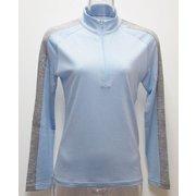 Ws 肩ラインロングジップシャツ I 336 ライトブルー×グレー Sサイズ [アウトドア カットソー レディース]