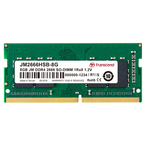 JM2666HSB-8G [ノートPC用メモリ DDR4-2666(PC4-21300)8GB×1枚 1.2V(低電圧)260pin SO-DIMM CL19]