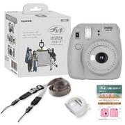 チェキカメラ INS mini 8PLUS SESAMI [インスタントカメラ instax mini8 プラス セサミ 純正ショルダーストラップ付]