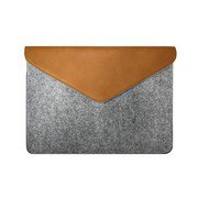 "MZESF11GB [Felt Laptop Pouch 11"" Gray with Brown Surface用ケース]"
