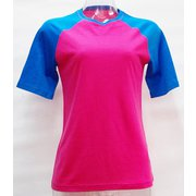 WsラグランショートTシャツ2トーン H-332 PNK×BLU ピンク LLサイズ [アウトドア カットソー レディース]