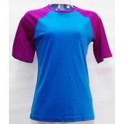 WsラグランショートTシャツ2トーン H-332 BLU×RIB ブルー Lサイズ [アウトドア カットソー レディース]