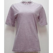 Ws ボーダーショートTシャツ I 132 ピンク×ダークグレー Lサイズ [アウトドア カットソー レディース]
