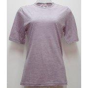 Ws ボーダーショートTシャツ I 132 ピンク×ダークグレー Mサイズ [アウトドア カットソー レディース]
