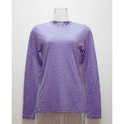 W'sボーダ-ロングTシャツ I 135 PP パープル Lサイズ [アウトドア カットソー レディース]