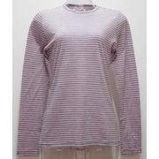 Ws ボーダーロングTシャツ I 135 ピンク×ダークグレー Lサイズ [アウトドア カットソー レディース]