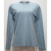 Ws ボーダーロングTシャツ I 135 ターコイズ×ダークグレー Lサイズ [アウトドア カットソー レディース]