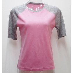Ws 2トーンショートTシャツ I 332 ローズ×グレー LLサイズ [アウトドア カットソー レディース]