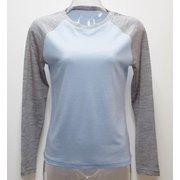 Ws 2トーンロングTシャツ I 335 ライトブルー×グレー Mサイズ [アウトドア カットソー レディース]