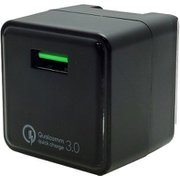FUSB-ACQC3BK [QC3.0対応 USB急速充電器 最大出力3A ブラック キューブ型]