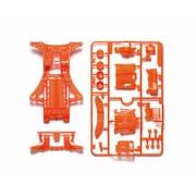 95509 FM-A蛍光カラーシャーシセット オレンジ [ミニ四駆パーツ]