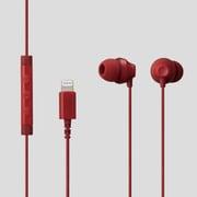 EHP-LF12CMRD [ステレオヘッドホン(マイク付)/耳栓型/Lightning/10.0mmドライバ/FAST MUSIC/F12C/レッド]