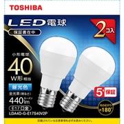 LDA4D-G-E17S40V2P [LED小型電球 E17 40W形相当 昼光色2P 配光角180°]