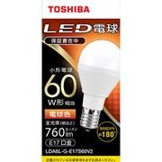 LDA6L-G-E17S60V2 [LED小型電球 E17 60W形相当 電球色 配光角180°]