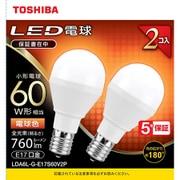 LDA6L-G-E17S60V2P [LED小型電球 E17 60W形相当 電球色2P 配光角180°]