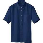 8054-008-M [アイトス 半袖ボタンダウンシャツ(男女兼用) ネイビー M]