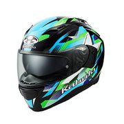 KAMUI 3 STARS [ヘルメット ブラックグリーン XL]