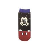 AWDS4753J 手付き靴下 ディズニーキャラクター ミッキーマウス BK×RD [キャラクターグッズ]