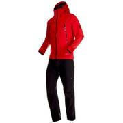 CLIMATE Rain-Suit AF Men 1010-26551 3528_ruby-black XSサイズ [アウトドア レインウェア メンズ]