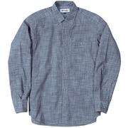 TSシャンブレーシャツ TS Chambray Shirt 5212965 (040)ブルー Mサイズ [アウトドア シャツ メンズ]