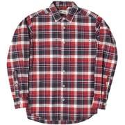 CシールドMIXチェックシャツ C-SHIELD Mix Check Shirt 5212969 (080)レッド Lサイズ [アウトドア シャツ メンズ]