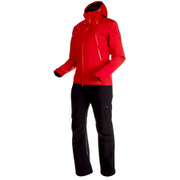 CLIMATE Rain-Suit AF Women 1010-26561 3528_ruby-black XSサイズ [アウトドア レインウェア レディース]