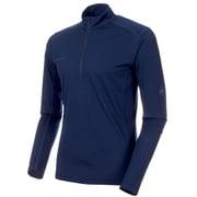 Performance Dry Zip Longsleeve Men 1016-00220 50125_peacoat Sサイズ [アウトドア カットソー メンズ]