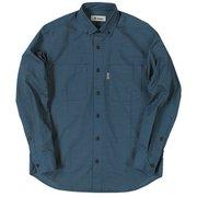 TSヘザーコーデュロイシャツ TS Heather Corduroy Shirt 5112963 ブルー Lサイズ [アウトドア シャツ メンズ]