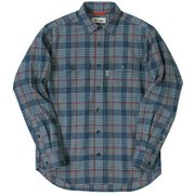 TSランダムグレンチェックシャツ ネイビー 046ネイビー Sサイズ [アウトドア シャツ メンズ]