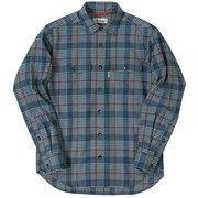 TSランダムグレンチェックシャツ ネイビー 046ネイビー Lサイズ [アウトドア シャツ メンズ]