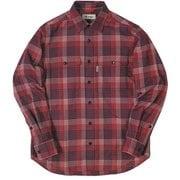 TSランダムグレンチェックシャツ レッド 080レッド XLサイズ [アウトドア シャツ メンズ]