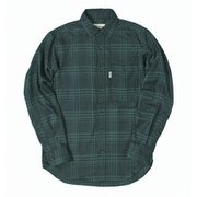 TSシンプルチェックシャツ TS Simple Check Shirt 5112981 グリーン Mサイズ [アウトドア シャツ メンズ]