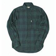 TSシンプルチェックシャツ TS Simple Check Shirt 5112981 グリーン Lサイズ [アウトドア シャツ メンズ]