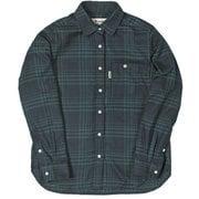 TSメランジチェックシャツ 8112935 グリーン Lサイズ [アウトドア シャツ レディース]