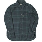 TSシンプルチェックシャツ 8112939 グリーン XLサイズ [アウトドア シャツ レディース]