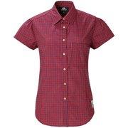 Ws SS Tartan Shirt 422809 R00 レッド Sサイズ [アウトドア シャツ レディース]