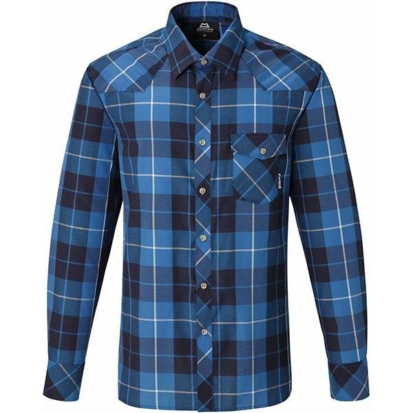 LS Tartan Shirt 421849 B01 ブルー Lサイズ [アウトドア シャツ メンズ]