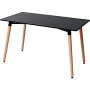 PRT-120(BK) [山善 木製おしゃれ ダイニングテーブル 120長方形_36641]