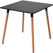 PRT-70(BK) [山善 木製おしゃれ ダイニングテーブル 75正方形_36626]