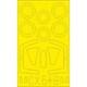 EDUCX548 ダッソー シュペルミステール B2 塗装マスクシール アズールフロム/スペシャルホビー用 [1/72スケール 塗装マスクシール]