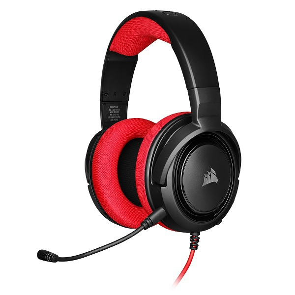 CA-9011198-AP [HS35 STEREO Stereo Gaming Headset(ゲーミングヘッドセット) Red]