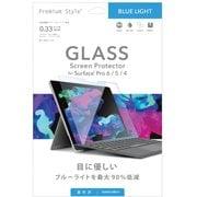 PG-SFP6GL03 [Surface Pro 6/5/4用 保護ガラス ブルーライトカット]